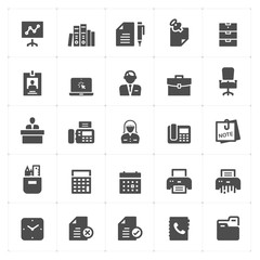 office and stationary filled icon style vector illustration on white background