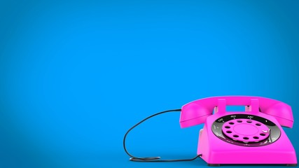 Cotton candy pink vintage telephone