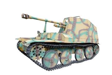 "Self propelled gun ""Murder III"" (Marder III Ausf.M) over white"