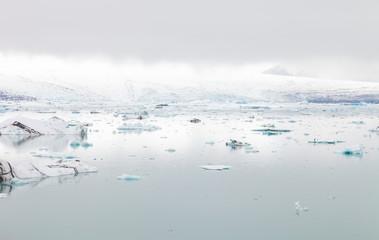Iceberg lagoon jokulsarlon on the south of Iceland