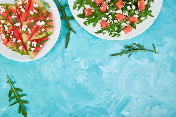 Fresh summer watermelon salad