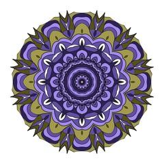 Modern floral ornament. Vector color mandala illustration