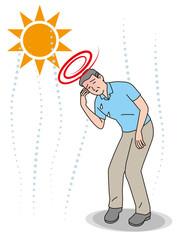 シニアの熱中症の症状 眩暈