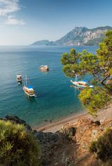 Small harbor on mediterranean coast