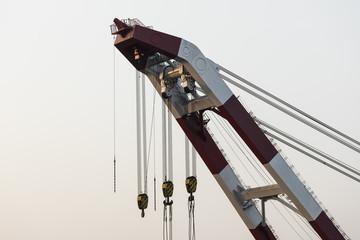Detail of a heavy duty crane in Bangladesh