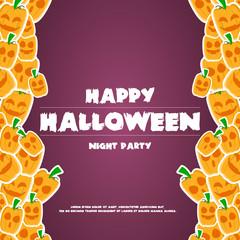 Happy halloween background banner pumpkins