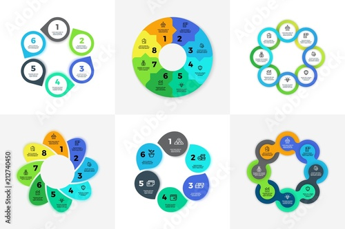 circle infographic chart diagram process workflow vector template