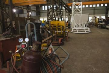 Oxygen cylinder in workshop