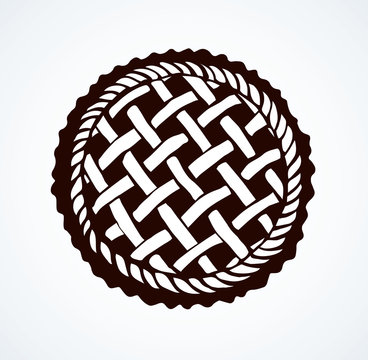 Pie. Vector drawing