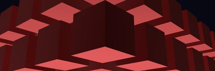 кубы бордового цвета