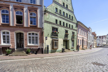 Blick in die Lübschestraße in Wismar