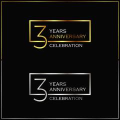 3rd years anniversary celebration background