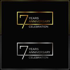 7th years anniversary celebration background