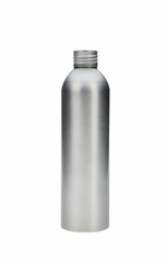 no icon metalic bottle for cosmetics isolated