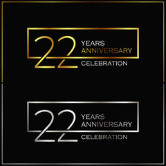 22nd years anniversary celebration background