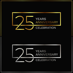 25th years anniversary celebration background