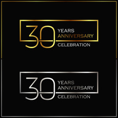 30th years anniversary celebration background