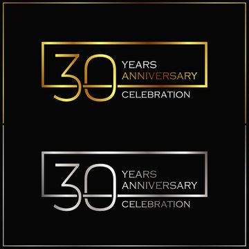 30th years anniversary celebration background