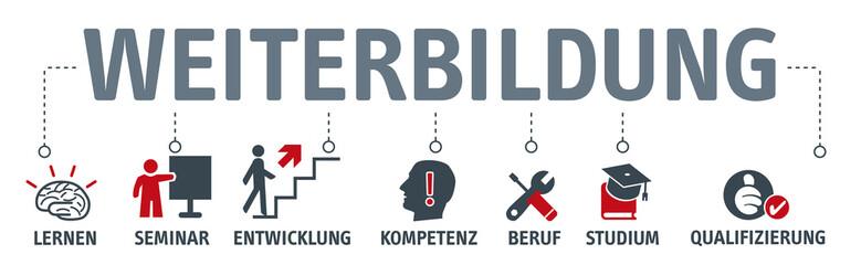 Banner Weiterbildung icons