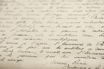Curie handwriting research