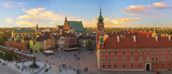 Royal Castle and the castle square in Warsaw