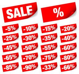 "Sticknotes Set ""Sale"" Minus Red"