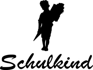 Silhouette Kind Schulanfang