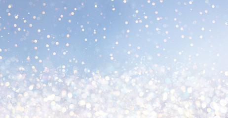 bokeh background stars blue