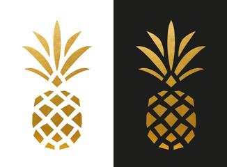 Modern Golden Pineapple Shape Wall mural