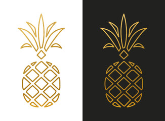 Modern Golden Pineapple Shape