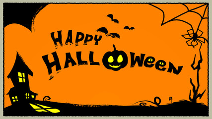 happy halloween illustration background