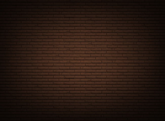 Brown background with realistic bricklaying wall.