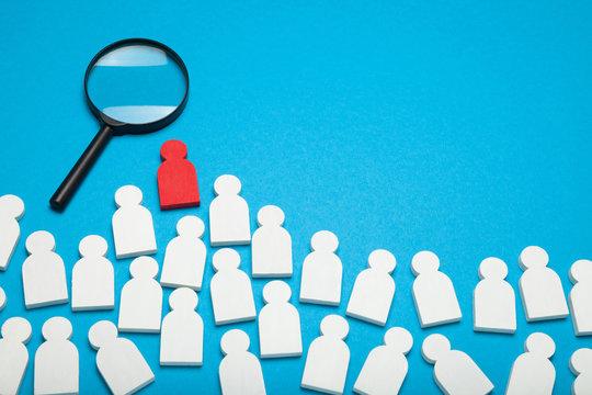Career concept, job recruit. Fair talent wanted.