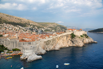 Dubrovnik scenic view over the city walls
