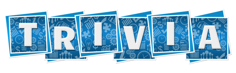 Trivia Business Texture Blocks Blue