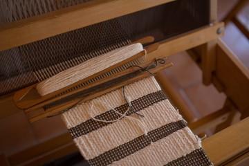 Machine with silk thread in factory