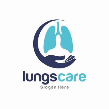 Lung Care Logo Vector Template