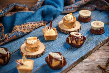 Delicious assorted mini dessert