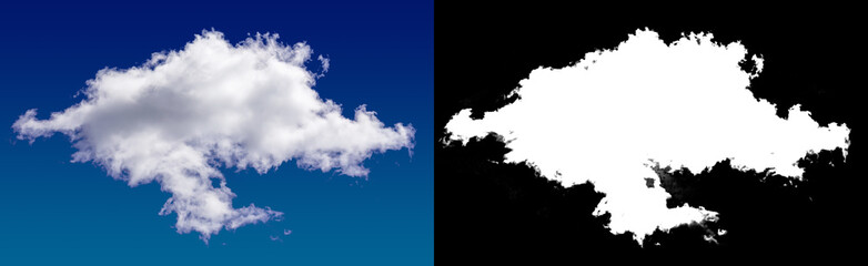 Cloud in the sky. A halftone clipping mask.