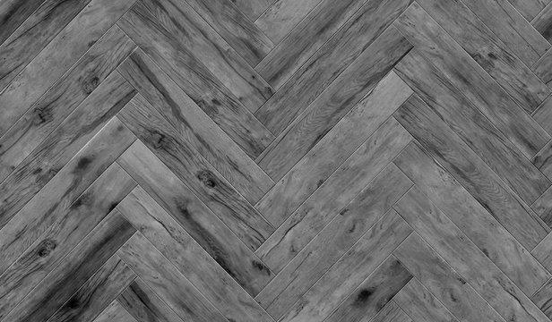 Seamless wood parquet texture herringbone pattern, glossiness