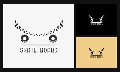 abstract skate board logo