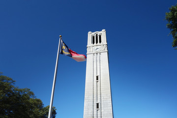 Bell tower and state flag Fotomurales
