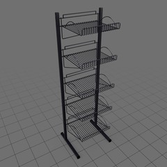 Slat rack display