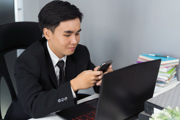 business man using a smartphone