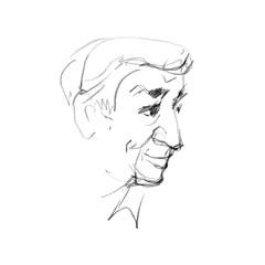 hand drawing picture, color pencil technique, old man-s portrait