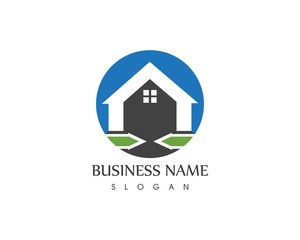Building icon logo template
