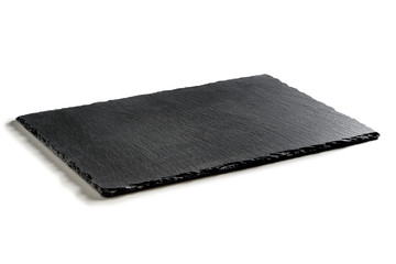Rectangular plate in black slate