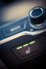 Car heated seats button