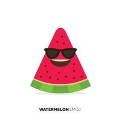 Watermelon fruit cute emoji character icon