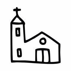 Simple church illustration